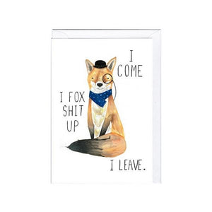 Jolly Awesome Fox Shit Up | Humour Card | The Gifted Type