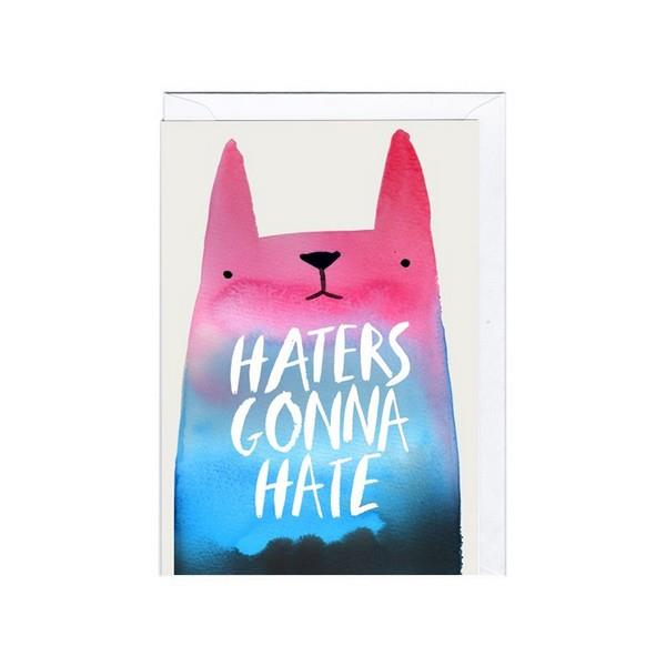 Jolly Awesome Haters Gonna Hate | Humour Card | The Gifted Type