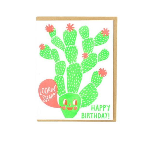 Hello!Lucky Cactus | Birthday Card | The Gifted Type