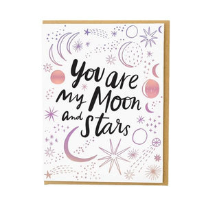 Hello!Lucky Moon And Stars | Friendship Card | The Gifted Type