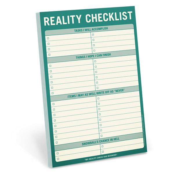 Knock Knock Notepad Reality Checklist | The Gifted Type