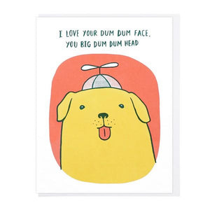 Lucky Horse Press Dum Dum Face | Friendship Card | The Gifted Type