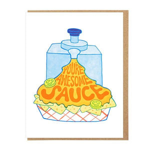 Lucky Horse Press You're Awesome Sauce | Friendship Card | The Gifted Type