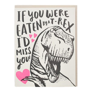 Hello!Lucky T-Rex Love | Friendship Card | The Gifted Type