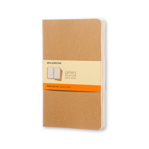 Moleskine Large Cahier Set Of 3 | Kraft Brown | The Gifted Type