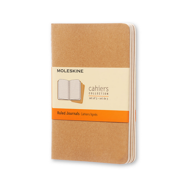 Moleskine Pocket Cahier Set Of 3 | Kraft Brown | The Gifted Type