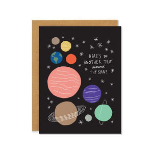 Around The Sun | Birthday Card | The Gifted Type