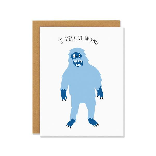 Yeti | Greeting Card | The Gifted Type