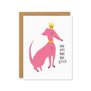 Bad Bitch | Greeting Card | The Gifted Type