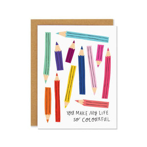 Pencil Crayons | Greeting Card | The Gifted Type