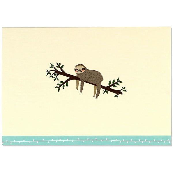 Sloth Peter Pauper Blank Notecards | The Gifted Type