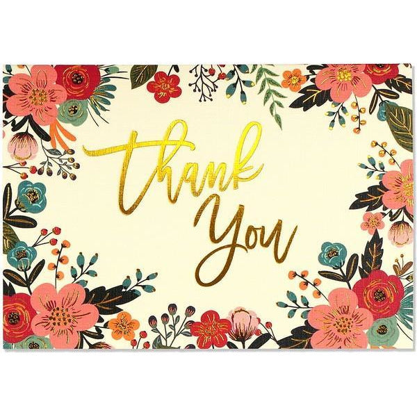 Floral Frame Thank You Notecards