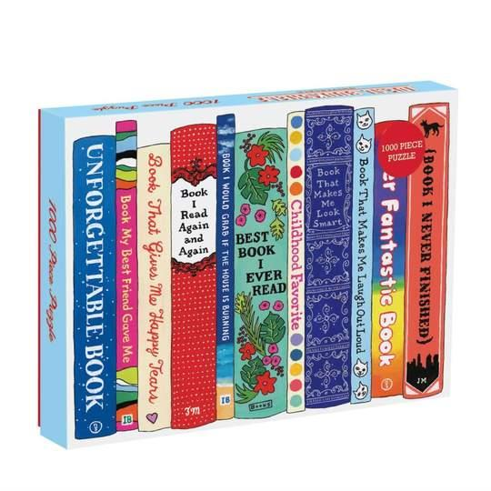 Galison Puzzle 1000 Pieces Ideal Bookshelf
