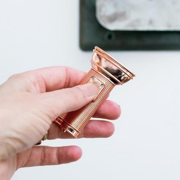 Copper Mini Flat Flashlight