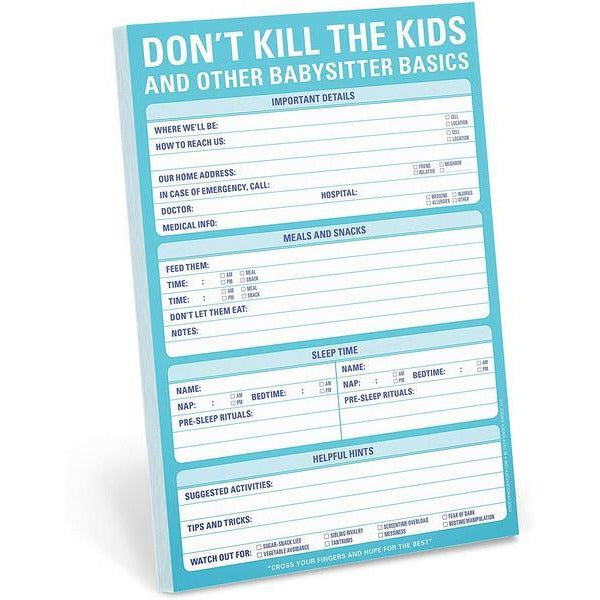 Don't Kill The Kids Notepad