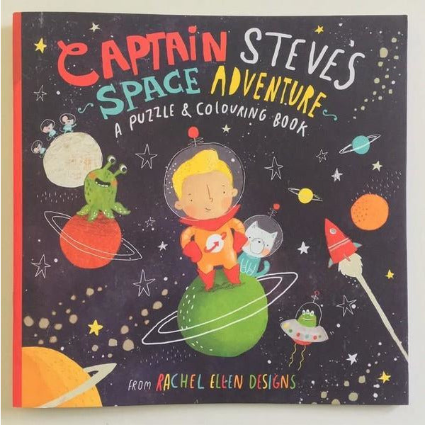 Captain Steve's Space Adventure - Puzzle & Colouring Book