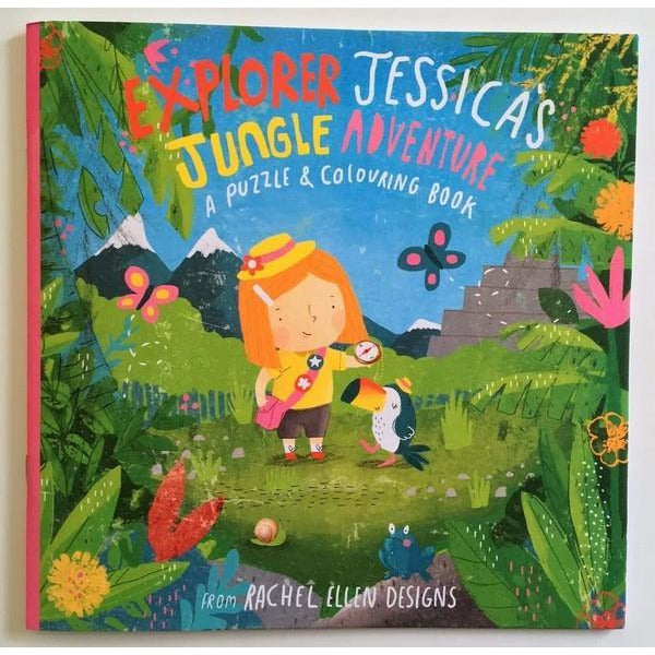 Explorer Jesssica's Jungle Adventure - Colouring and Puzzle Book