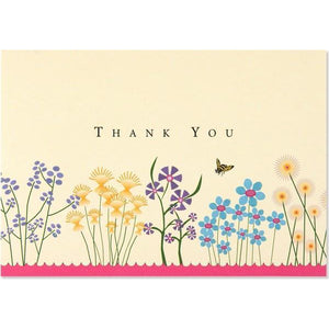 Sparkly Garden Thank You Notecards