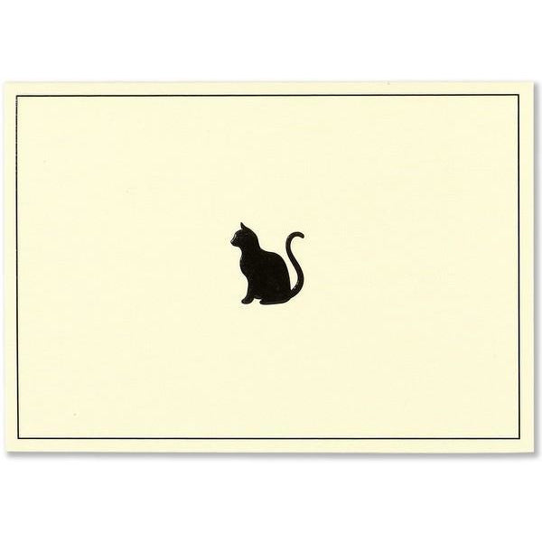Black Cat Pauper Blank Notecards | The Gifted Type