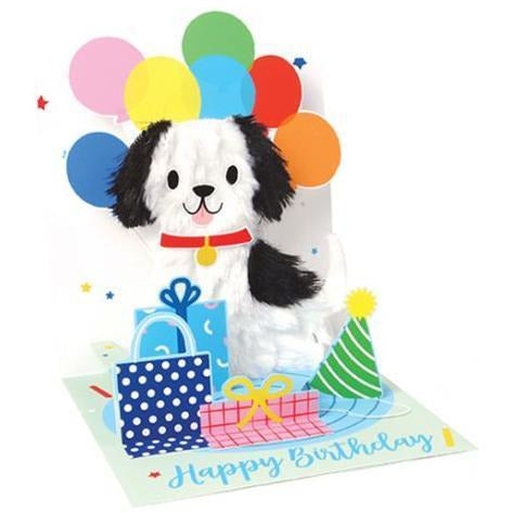 Puppy Balloons Pop-Up Card | Up with Paper | The Gifted Type
