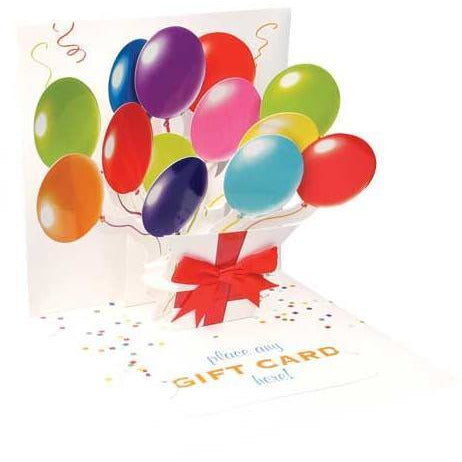 Balloons Card - Gift Card | Up With Paper | The Gifted Type