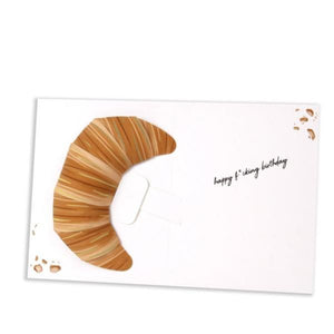 Croissant Pop-Up Card Interior | Up With Paper | The Gifted Type
