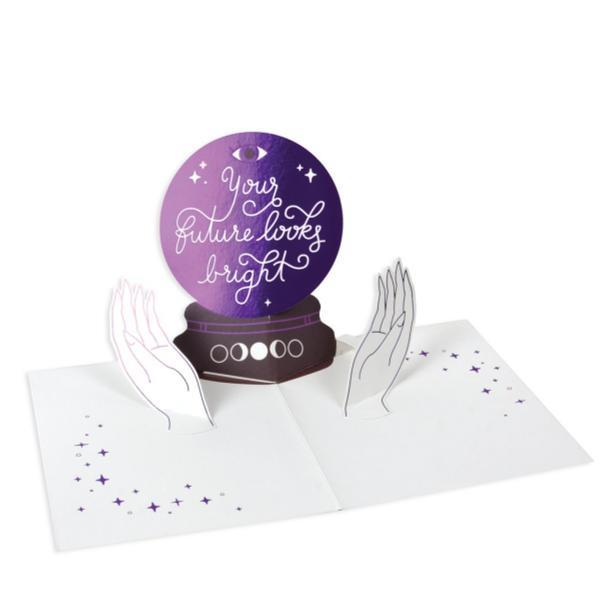 Crystal Ball Pop Up Card Interior | Up With Paper | The Gifted Type