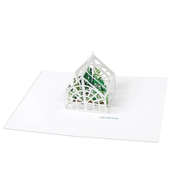 Greenhouse Pop-Up Card | Up With Paper | The Gifted Type