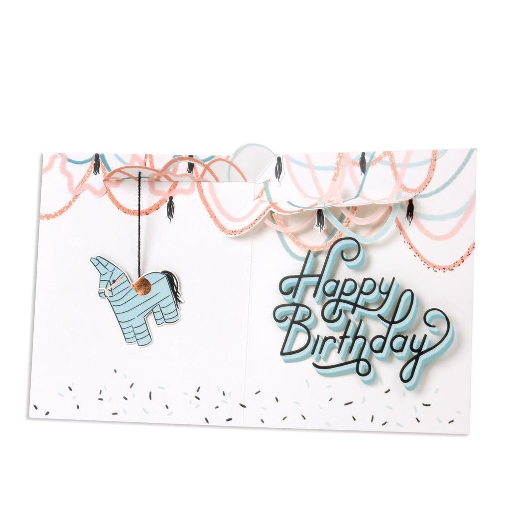 Birthday Typography Pinata Pop-Up Card | Up With Paper | The Gifted Type