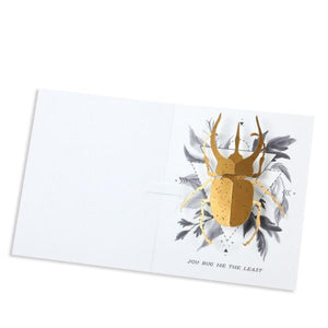 Beetle Pop-Up Card Interior | Up With Paper | The Gifted Type