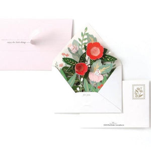 Floral Envelope Pop-Up Card | Up With Paper | The Gifted Type
