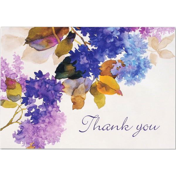 Lilacs Thank You Notecards