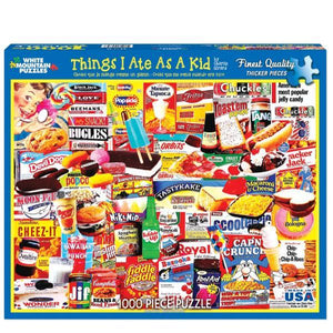 Things I Ate as a Kid - 1000 Pieces | White Mountain Puzzles | The Gifted Type