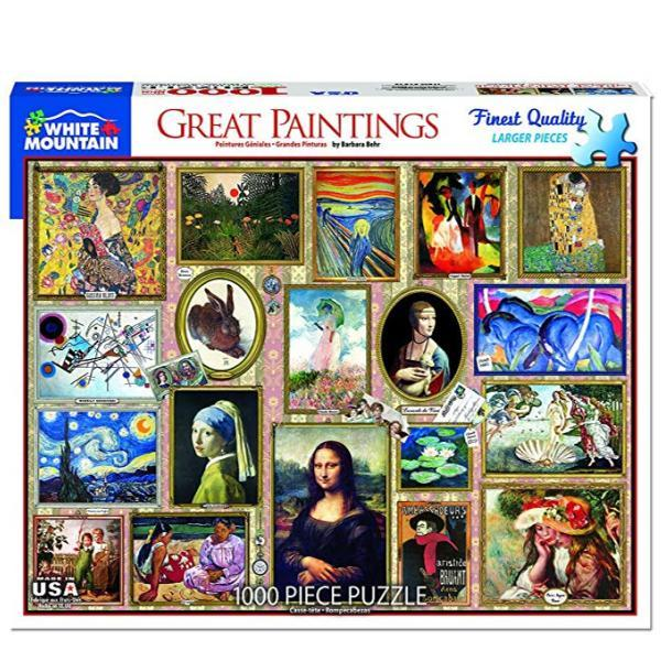 Great Paintings - 1000 Pieces | White Mountain Puzzles | The Gifted Type