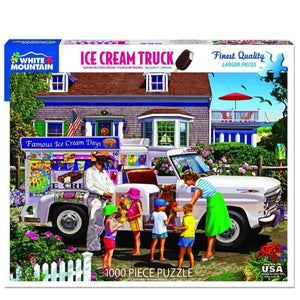 Ice Cream Truck - 1000 Pieces | White Mountain Puzzles | The Gifted Type
