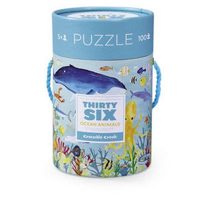 36 Ocean Animals Floor Puzzle - 100 Piece | The Gifted Type
