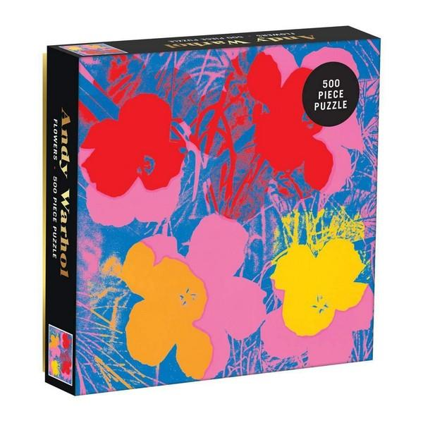 Andy Warhol Flowers Puzzle - 500-Piece | The Gifted Type