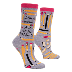 I'm a Nerd Women's Crew Socks | The Gifted Type