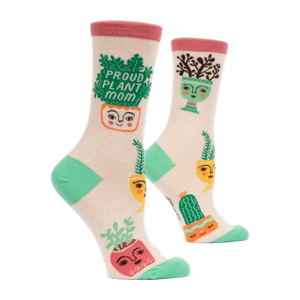 Proud Plant Mom Women's Crew Socks | The Gifted Type