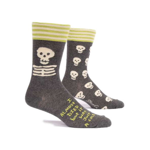 I Almost Died Men's Crew Socks | The Gifted Type