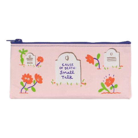 Cause of Death: Small Talk Pencil Case | The GIfted Type