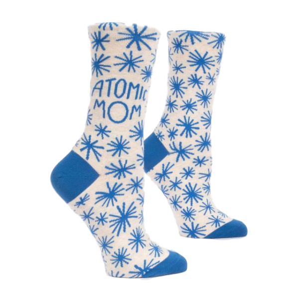 Atomic Mom Women's Crew Socks | The Gifted Type