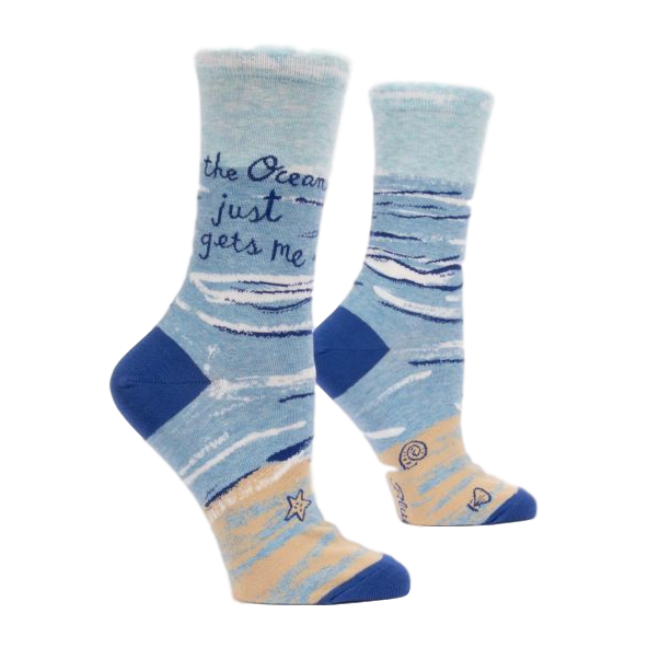 Ocean Gets Me Women's Crew Socks | The GIfted Type