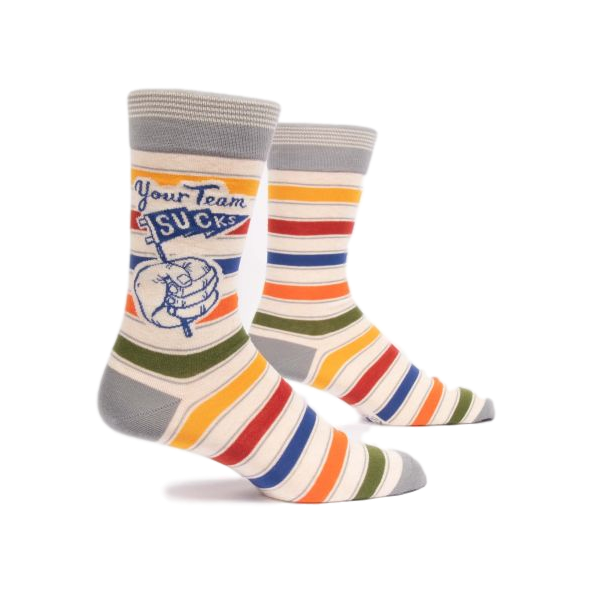 Your Team Sucks Men's Crew Socks | The Gifted Type