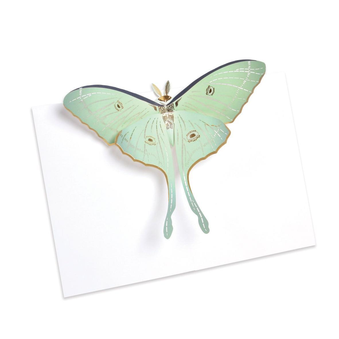 Luna Moth Pop-Up Card | Up With Paper | The Gifted Type