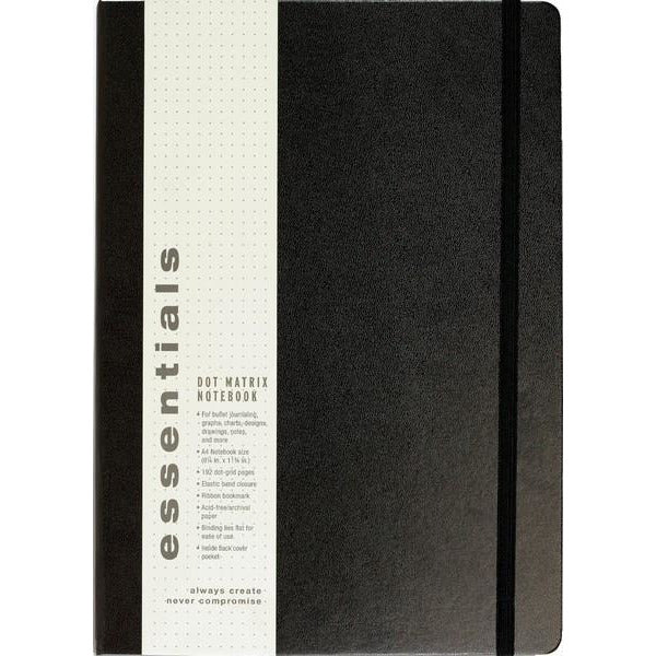 Essentials Notebook - Dot Extra Large Black