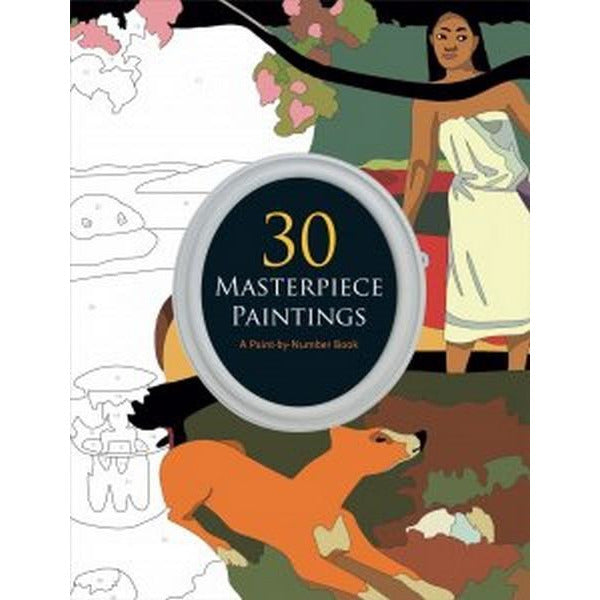 Paint By Number Book - 30 Masterpiece Paintings