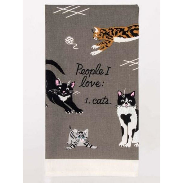 People I Love: Cats - Dish Towel