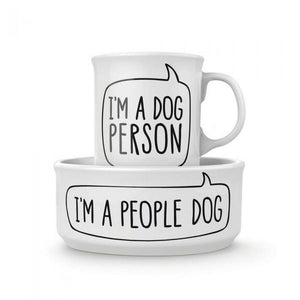 I'm a Dog Person Mug & Pet Bowl Set