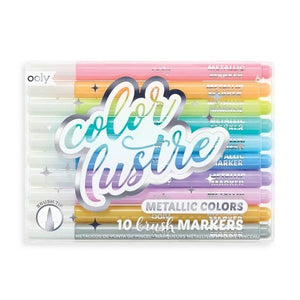 Color Lustre - Brush Markers Set of 10